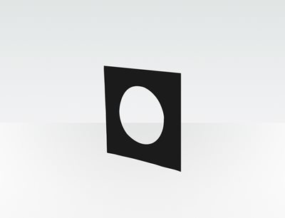 Productfoto Thumb Wall Plate (Square - Plastic)
